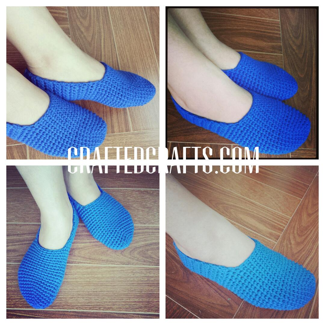 Diy Crocheted Slippers Are Love The Happy Work At Home Mom